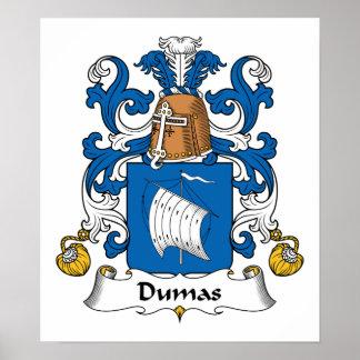 Escudo de la familia de Dumas Poster