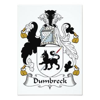 """Escudo de la familia de Dumbreck Invitación 5"""" X 7"""""""