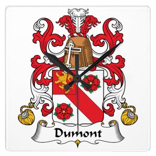 Escudo de la familia de Dumont Reloj Cuadrado