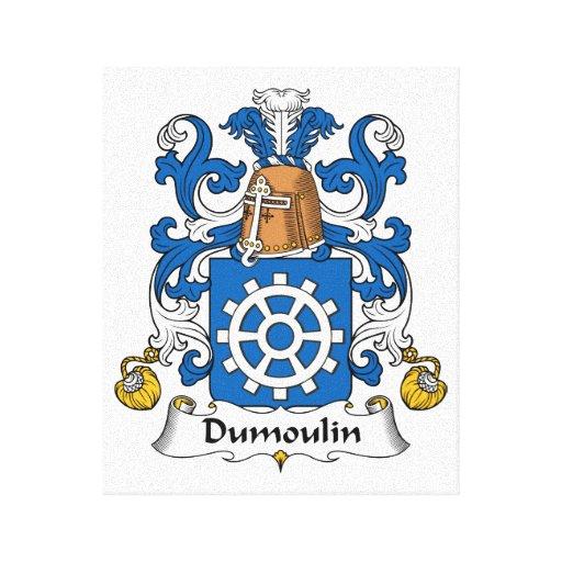 Escudo de la familia de Dumoulin Lona Envuelta Para Galerias