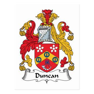 Escudo de la familia de Duncan Postal