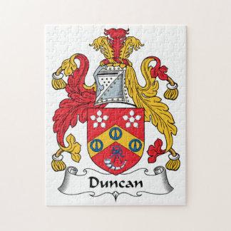 Escudo de la familia de Duncan Rompecabeza Con Fotos