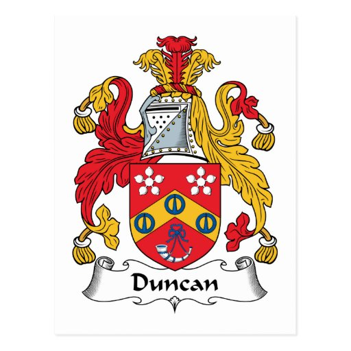 Escudo de la familia de Duncan Tarjetas Postales