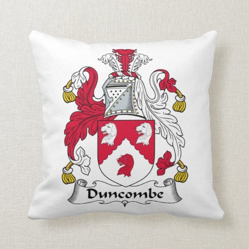 Escudo de la familia de Duncombe Cojines