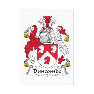 Escudo de la familia de Duncombe Impresion En Lona