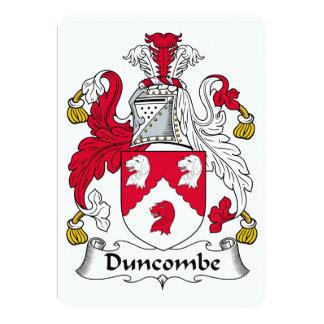 """Escudo de la familia de Duncombe Invitación 5"""" X 7"""""""