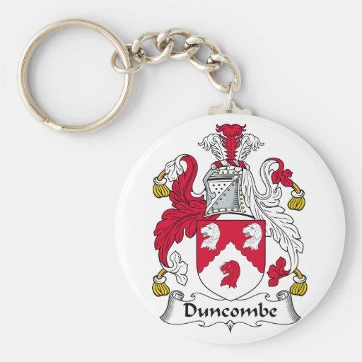 Escudo de la familia de Duncombe Llaveros Personalizados
