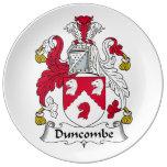 Escudo de la familia de Duncombe Platos De Cerámica