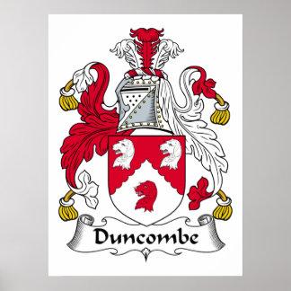 Escudo de la familia de Duncombe Posters