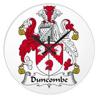 Escudo de la familia de Duncombe Reloj Redondo Grande