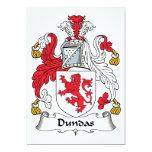 Escudo de la familia de Dundas Invitación 12,7 X 17,8 Cm