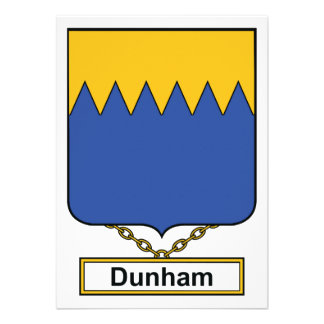 Escudo de la familia de Dunham Invitacion Personalizada