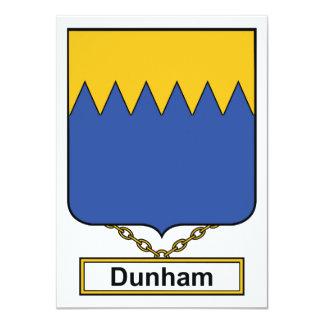 "Escudo de la familia de Dunham Invitación 4.5"" X 6.25"""