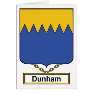 Escudo de la familia de Dunham Tarjetón