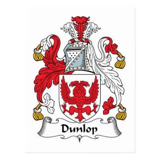Escudo de la familia de Dunlop Postales