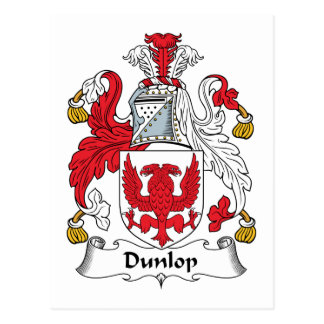 Escudo de la familia de Dunlop Tarjeta Postal