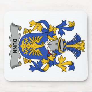 Escudo de la familia de Dunn Alfombrillas De Raton