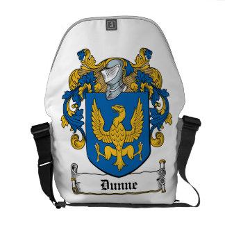 Escudo de la familia de Dunne Bolsa De Mensajeria