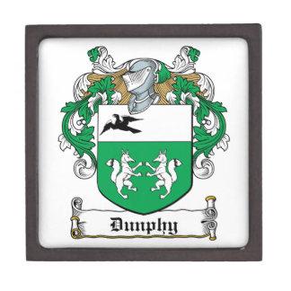 Escudo de la familia de Dunphy Caja De Recuerdo De Calidad