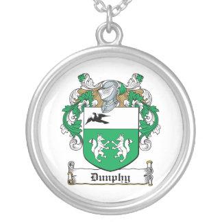 Escudo de la familia de Dunphy Pendientes Personalizados