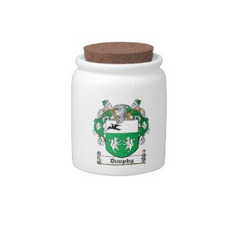 Escudo de la familia de Dunphy Platos Para Caramelos
