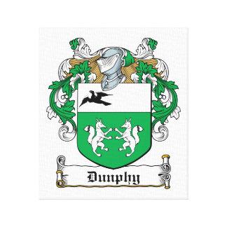 Escudo de la familia de Dunphy Impresion De Lienzo