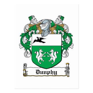 Escudo de la familia de Dunphy Postal