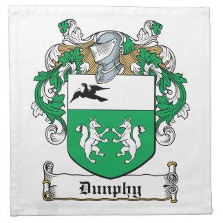 Escudo de la familia de Dunphy Servilleta Imprimida