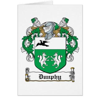 Escudo de la familia de Dunphy Tarjeta