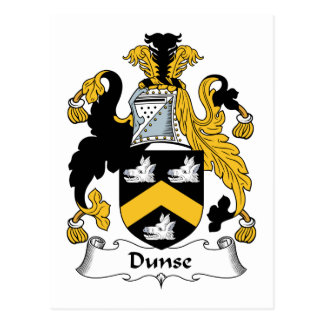 Escudo de la familia de Dunse Postal