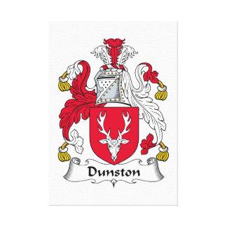 Escudo de la familia de Dunston Impresiones En Lona