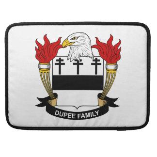 Escudo de la familia de Dupee Fundas Macbook Pro