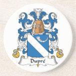 Escudo de la familia de Dupre Posavasos Para Bebidas