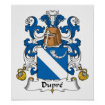 Escudo de la familia de Dupre Posters
