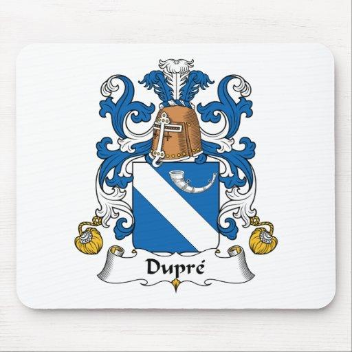 Escudo de la familia de Dupre Alfombrillas De Ratón
