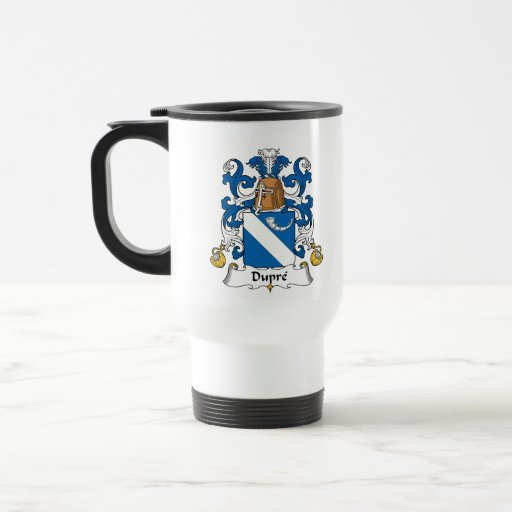Escudo de la familia de Dupre Tazas De Café