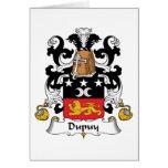 Escudo de la familia de Dupuy Felicitación