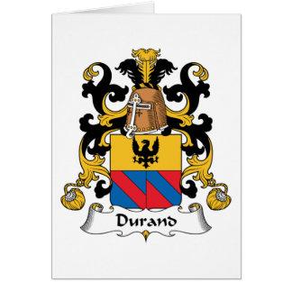 Escudo de la familia de Durand Tarjeta De Felicitación