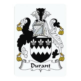 """Escudo de la familia de Durant Invitación 5"""" X 7"""""""