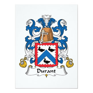 """Escudo de la familia de Durant Invitación 6.5"""" X 8.75"""""""