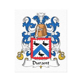 Escudo de la familia de Durant Lona Envuelta Para Galerías