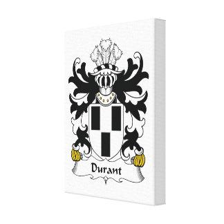Escudo de la familia de Durant Lienzo Envuelto Para Galerías