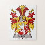 Escudo de la familia de Durell Puzzle