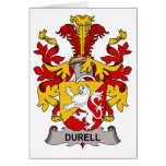 Escudo de la familia de Durell Tarjeta