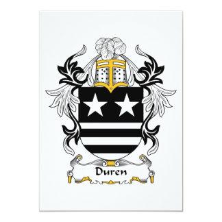 """Escudo de la familia de Duren Invitación 5"""" X 7"""""""