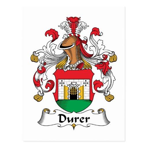 Escudo de la familia de Durer Postal