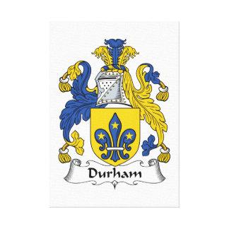 Escudo de la familia de Durham Impresión En Lienzo Estirada