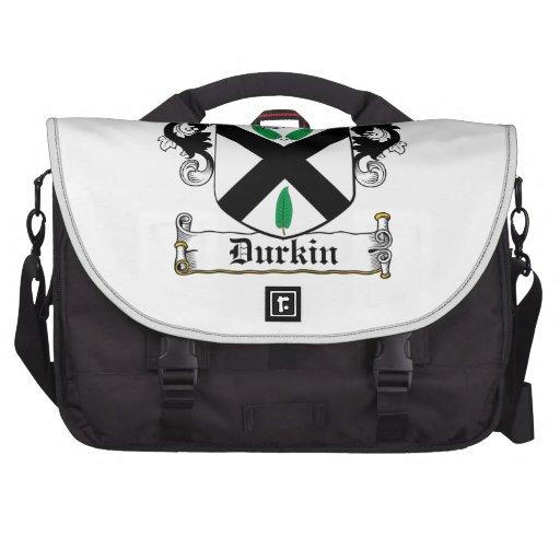 Escudo de la familia de Durkin Bolsas De Ordenador