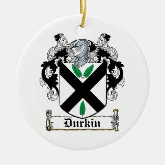 Escudo de la familia de Durkin Adorno Redondo De Cerámica