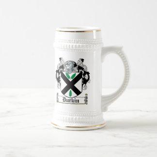 Escudo de la familia de Durkin Jarra De Cerveza